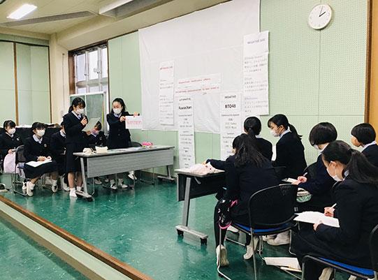 英語のディベートの授業